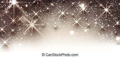 Winter festive luminous banner. - Winter festive luminous...