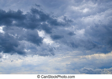Stormy cloudscape   Background - Moody sky at the beginning...