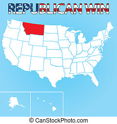 United States Election Illustration for Montana - The United...