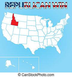 United States Election Illustration for Idaho - The United...