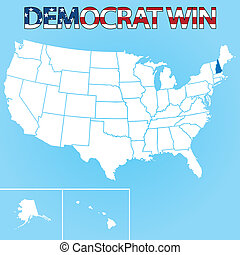 United States Election Illustration for New Hampshire - The...