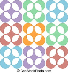 Pastel abstract round flowers