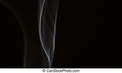 smoke on black background - Abstract smoke on black...