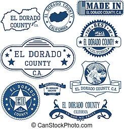 El Dorado county, CA. Stamps and signs - El Dorado county,...