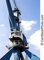 Harbor crane closeup - Crane in the harbor