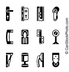 Interior and exterior fasteners - vector illustration