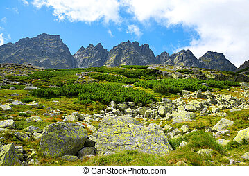 High Tatras - Slovakia - Mountain ridge Bast. Mengusovska...