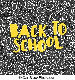 Back to school poster design with numbers pattern background