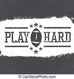 Grunge american football poster design.