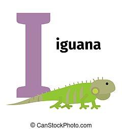 English animals zoo alphabet letter I - English animals zoo...