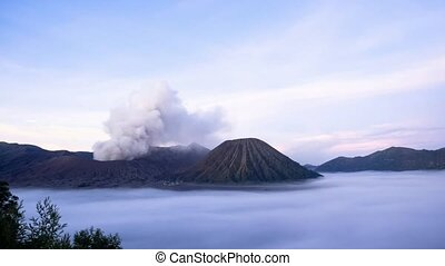 Volcanoes of Bromo - Time lapse Volcanoes of Bromo National...