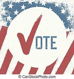 Voting symbol design template.