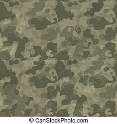 Military camouflage seamless pattern Grunge and aged Four...