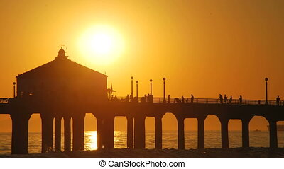 MB Pier Sunset