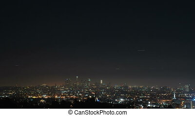 RB-0009-Downtown LA at night wide
