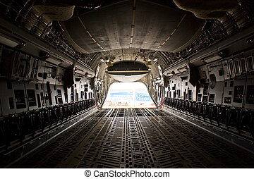 Farnborough Airshow 2010 - C17 Cargo Bay