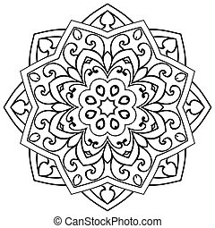 ?bstract ornamental mandala. - Vector abstract mandala on a...
