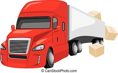 Express delivery. Vector illustration