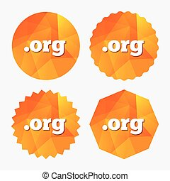 Domain ORG sign icon Top-level internet domain - Domain ORG...