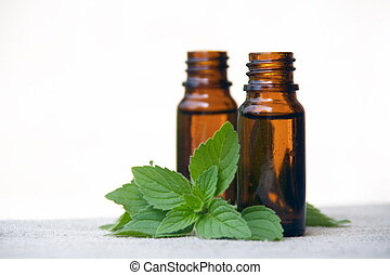 Aroma Oil in Bottles with Mint
