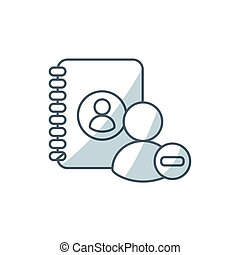 directory book with social medica icon vector illustration...