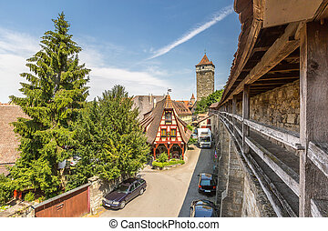 historic town of Rothenburg ob der Tauber - Beautiful view...