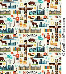 Canada Travel Collection - Canada Travel Pattern. Vector...