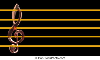 Treble clef on music sheet