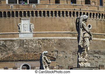 Castel Sant' Angelo, Rome, Italy - View at Castel Sant'...