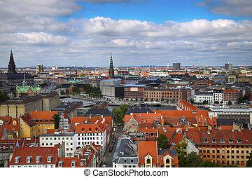 Copenhagen, Denmark - Panoramic view of Copenhagen from...
