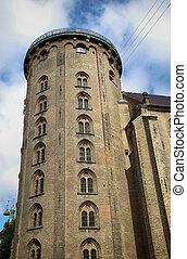The Rundetaarn (Round Tower) in central Copenhagen, Denmark