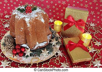 Pandoro Cake and Christmas Gifts - Italian pandoro christmas...