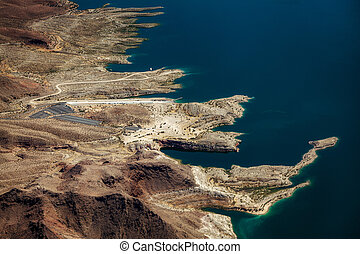 Aerial view of Lake Mead