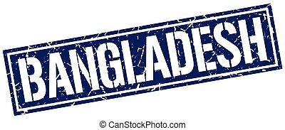 Bangladesh blue square stamp