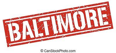 Baltimore red square stamp