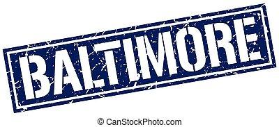 Baltimore blue square stamp