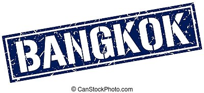 Bangkok blue square stamp