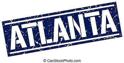 Atlanta blue square stamp