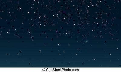 Starry night sky. Digital background raster illustration.