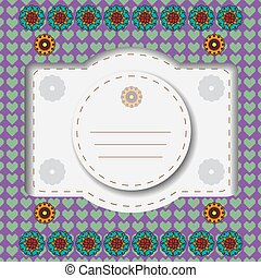 Colorful floral greeting card.