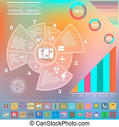 Colorful Infographics Diagram Summer Design. - Travel Summer...