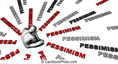 Pessimism - Suffering From Pessimism with a Victim Crying...