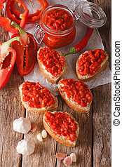Ajvar - delicious dish of red peppers, onions and garlic...