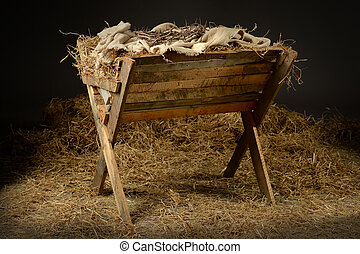 Manger with Crown of Thorns - Manger with crown of thorns in...