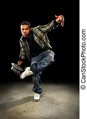 African American Man Dancing