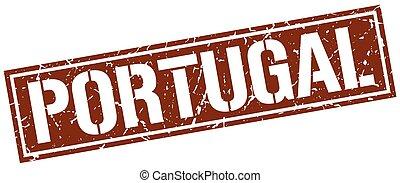 Portugal brown square stamp