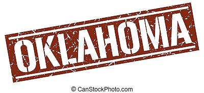 Oklahoma brown square stamp