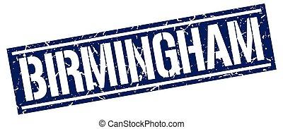 Birmingham blue square stamp