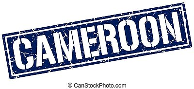 Cameroon blue square stamp