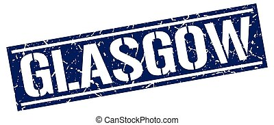 Glasgow blue square stamp